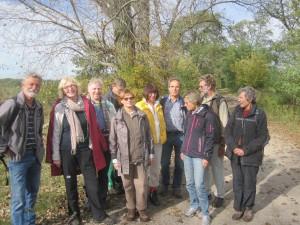 unsere Wandergruppe nahe Reckahn, Brandenburg